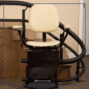 Curved Stair Lift for Helix Stairs | Gulfside Elevator & Cab Interiors, LLC