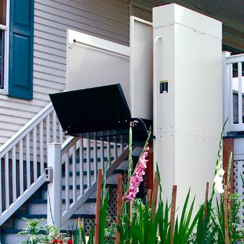Open Vertical Platform Lift Wheelchair Lift | Gulfside Elevator & Cab Interiors, LLC
