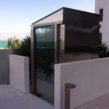 Enclosed Vertical Platform Lift Wheelchair Lift | Gulfside Elevator & Cab Interiors, LLC